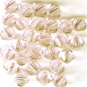 Swarovski Crystal 24 Silk 4mm Bicones 5301