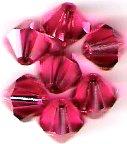 Swarovski Crystal 24 Padparadscha 4mm Bicones 5301