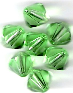 Swarovski Crystal 24 Peridot 4mm Bicones 5301