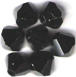 Swarovski Crystal 24 Jet 4mm Bicones 5301
