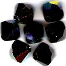 Swarovski Crystal 24 Jet Aurora Borealis 4mm Bicones 5301