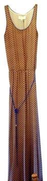 NWT Nutmeg Corey Lynn Calter Silk Dots Maxi Dress