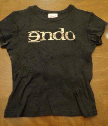 Endo Band Concert T-shirt, 100% Cotton, Black, Ladies size S/M