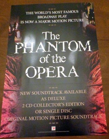 Phantom of the Opera 2004 Double Sided Film Promo Poster Emmy Rossum