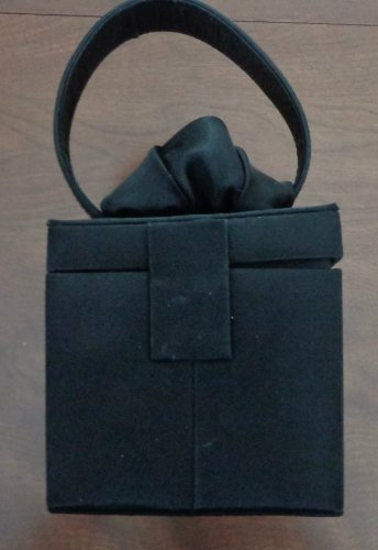 Fellini By Carlo Fellini Black Formal Clutch Purse
