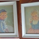 "Set of 2 Anne Allaben Framed Prints ""Katrina"" & ""Adrian"" EG Co Inc"