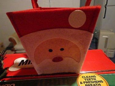 Handmade Red Mini-Felt Santa Gift Bag