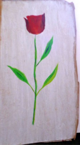 Original Rustic Artwork - Acrylic on Cardboard. (Signed, Botanical Themed)