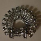 Vintage Silver Toned Semi-Circle Pin