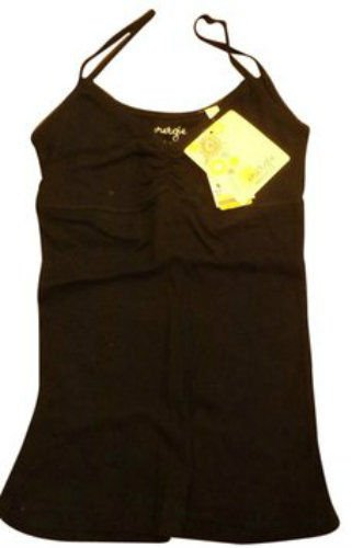 NWT Solid Black Energie Ribbed Juniors Tank Top - Size S