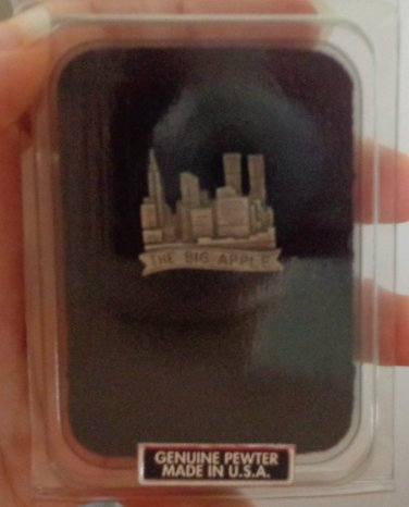 "New In Box ""The Big Apple"" NYC Pin in Pewter"