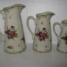 Pitcher Set 3p/c country style set nice painting