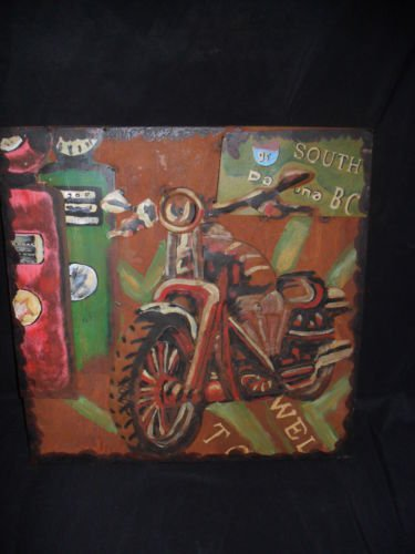"""3D Metal """"Rt95 South"""" Motorcycle Sign for your Shop,Garage or Man Cave"""