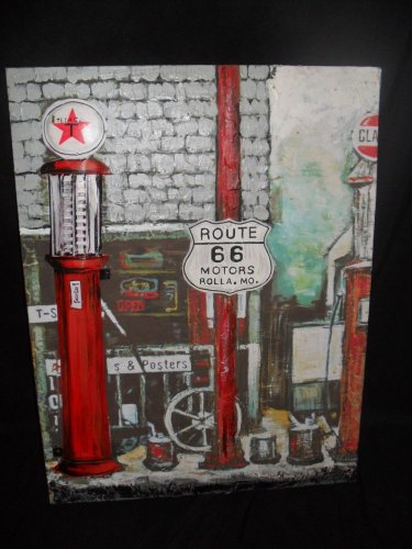 """3D Metal """"Rt66"""" Sign for your Shop,Garage or Man Cave"""