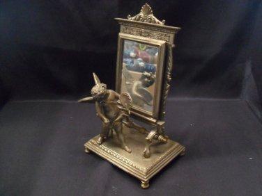 Samll Bronze Cherub Mirror