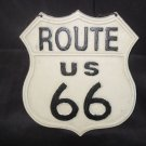 "Cast Iron ""Rt 66"" Hanging Plaque"