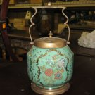 Porcelain and bronze jar/BISCUT JAR