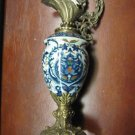 Porcelain and bronze decorative urn