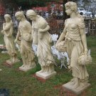 Cast Stone; Four Seasons Women Statues