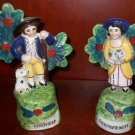 "Majolica ""Shepherd and Shepherdess"" Figurines"