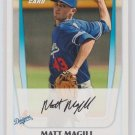 Matt Magill - Dodgers 2011 Bowman Baseball Trading Card #BP61
