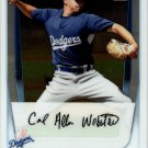 Allen Webster - Dodgers 2011 Bowman Crome Baseball Trading Card #BCP89