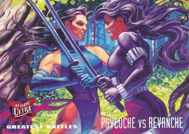 Psylocke vs. Revanche - 1994 Marvel Comic Trading Card #136