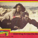 Speeding Across the World - 1980 Superman II Comic Trading Card #75