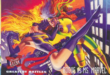 Rogue vs Ms.Marvel - 1995 Marvel Comic Trading Card #137