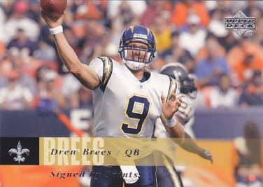 Drew Brees - Chargers 2006 Upper Deck Football Trading Card #120