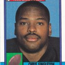Chris Singleton - Patriots 1990 Topps Rookie Football Trading Card #416