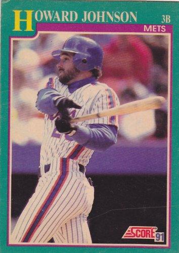 Howard Johnson - Mets 1991 Score Baseball Trading Card #185