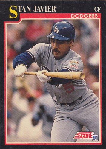 Stan Javier - Dodgers 1991 Score Baseball Trading Card #281
