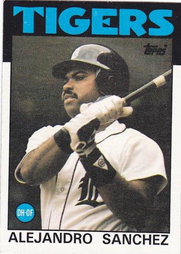 Alejandro Sanchez - Tigers 1986 Topps Baseball Trading Card #563