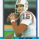 Marc Wilson - Patriots 1990 Topps Football Trading Card #426