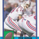 Steve Grogan - Patriots 1990 Topps Football Trading Card #418