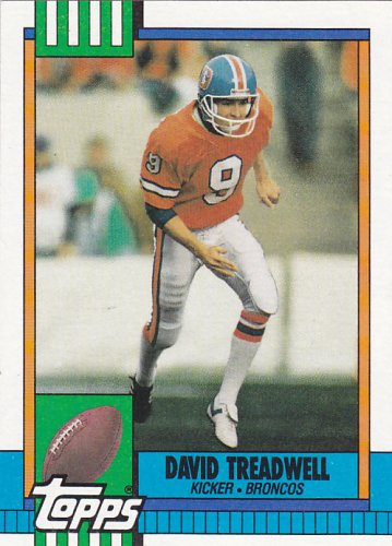 David Treadwell - Broncos 1990 Topps Football Trading Card #34