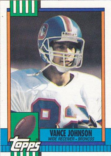 Vance Johnson - Broncos 1990 Topps Football Trading Card #38