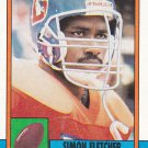 Simon Fletcher - Broncos 1990 Topps Football Trading Card #39