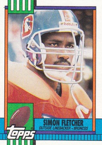 Simon Fletcher - Broncos 1990 Topps Football Trading Card #39