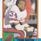 Tyrone Braxton - Broncos 1990 Topps Football Trading Card #30