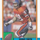 Dennis Smith - Broncos 1990 Topps Football Trading Card #36
