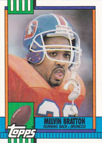 Melvin Bratton - Broncos 1990 Topps Football Trading Card #42