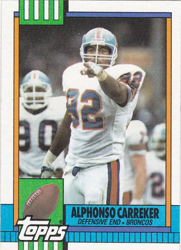 Alphonso Carreker - Broncos 1990 Topps Football Trading Card #46