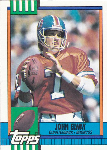 John Elway - Broncos 1990 Topps Football Trading Card #37