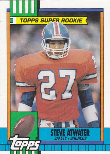 Steve Atwater - Broncos 1990 Topps Super Rookie Football Trading Card #29