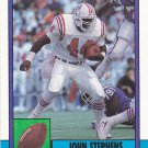 John Stephens - Patriots 1990 Topps Football Trading Card #427