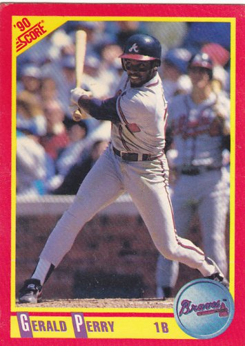 Gerald Perry - Braves 1990 Score Baseball Trading Card #249