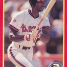 Claudell Washington - Angels 1990 Score Baseball Trading Card #298