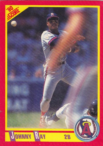 Johnny Ray - Angels 1990 Score Baseball Trading Card #293
